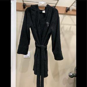 Victoria's Secret PINK Terry robe w/hood & pockets